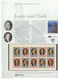 3855-6 37c Lewis & Clark Bklt Commemorative Panel CAT 709 cp709